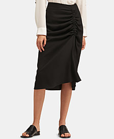 DKNY Ruched-Side Skirt
