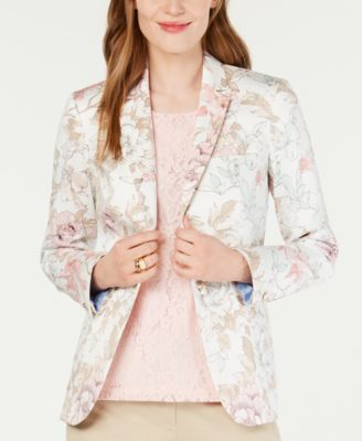 Floral-Print Blazer, Created for Macy's