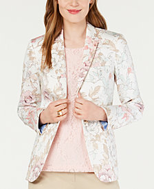 Tommy Hilfiger Floral-Print Blazer, Created for Macy's
