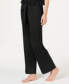 INC Ultra Soft Knit Ruching Pajama Pants, Created for Macy's
