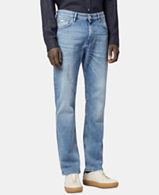 BOSS Men's Relaxed Fit Stretch Jeans