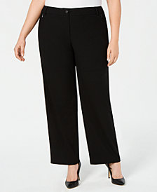 Calvin Klein Plus Size Zip-Pocket Pants
