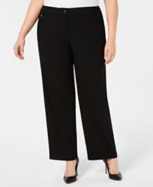 Calvin Klein Plus Size Zip-Pocket Pants