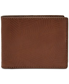 Fossil Men's Roman Leather Flip ID Wallet