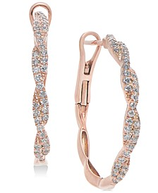 Diamond Twist Hoop Earrings (1/2 ct. t.w.) in 14k Gold , 14k White Gold or 14k Rose Gold