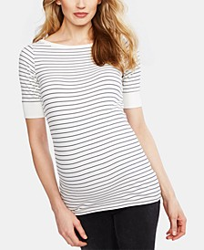 Maternity Boat-Neck Top