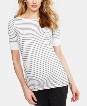Image of A Pea In The Pod Maternity Boat-Neck Top