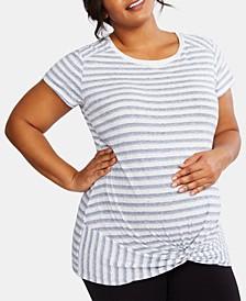 Plus Size Twist-Front T-Shirt