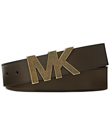 Men's Leather Logo Belt