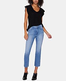 Sanctary Modern Standard Straight-Leg Capri Jeans