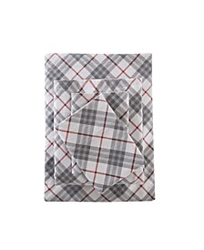 4-Pc. Cotton Flannel California King Sheet Set