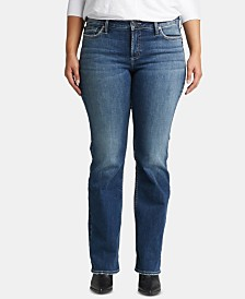 Silver Jeans Co. Plus Size Suki Slim Boot-Cut Jeans