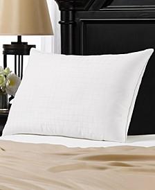 Soft Gel Filled 100% Cotton Windowpane Shell Stomach Sleeper Pillow - Queen