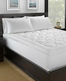 Lofty 100% Cotton Plush Gel Fiber Filled Mattress Pad - Twin