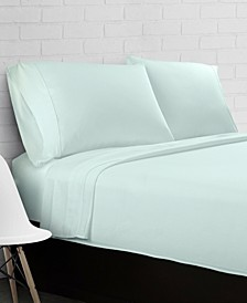 100% Cotton Percale 300 Thread Count 4-Piece Sheet Set - Twin
