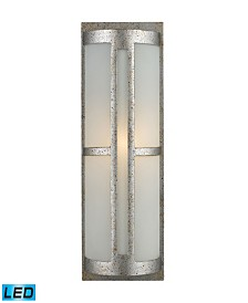 Trevot 1-Light Outdoor Wall Mount in Sunset Silver - LED Offering Up To 800 Lumens (60 Watt Equivalent)