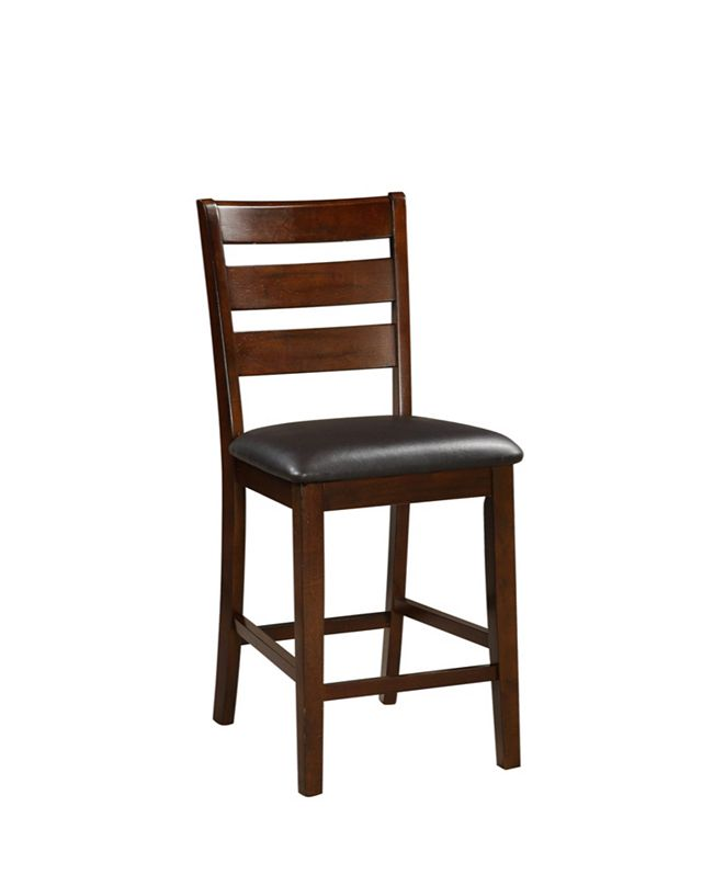 Benzara Wooden Counter Height Armless Chair, Set of 2