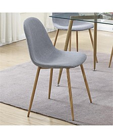 Metal Frame Dining Chair with Petal-Like Seats, Set of 4