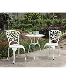 Transitional Style Table Set of 1 Table And 2 Chairs with Cabriole Legs