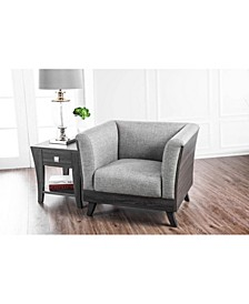 Fabric Upholstered Contemporary Style Chair with Angled Legs