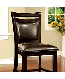 Benzara Traditional Style Counter Height Chair, Set of 2