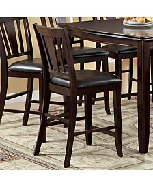 Benzara Transitional Style Edgewood Counter Height Chair, Set of 2