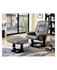 Multifunctional Swivel Lounger Chair with Ottoman