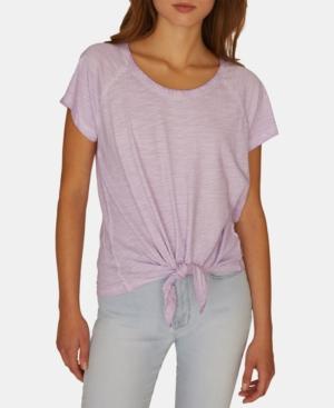 Sanctuary T-shirts LOU SOLID TIE-FRONT T-SHIRT