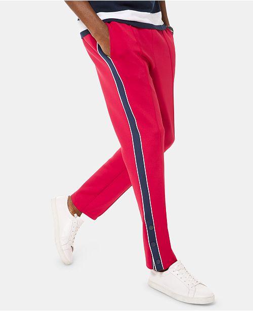 Michael Kors Men's Scuba Stripe Side-Snap Track Pants