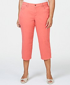 Plus Size Tummy Control Capri Pants, Created for Macy's