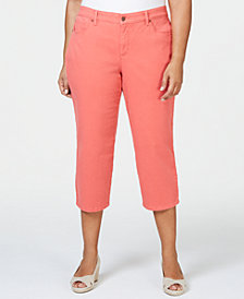 Charter Club Plus Size Tummy Control Capri Pants, Created for Macy's