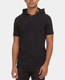 Kenneth Cole New York Men's Stretch Hooded Polo