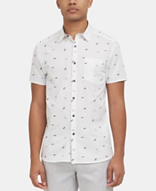 Kenneth Cole New York Men's Stretch Sunglasses-Print Shirt