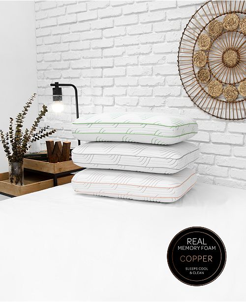 SensorGel Wellness Memory Foam Pillow Collection with Built-In iCOOL Technology System, Created for Macys