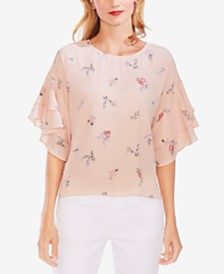 Vince Camuto Tiered-Sleeve Top