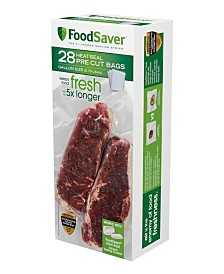 FoodSaver® 1-Gallon Pre-Cut Vacuum Seal Bags with BPA-Free Multi-Layer Construction for Food Preservation, 28 Count