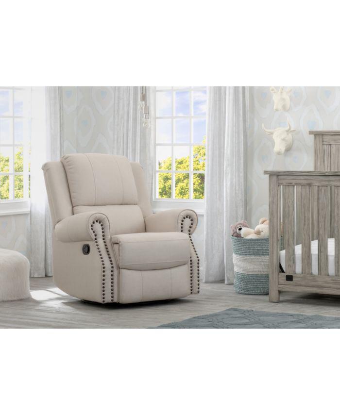 Delta Children Dylan Nursery Recliner Glider Swivel Chair & Reviews - Recliners - Furniture - Macy's