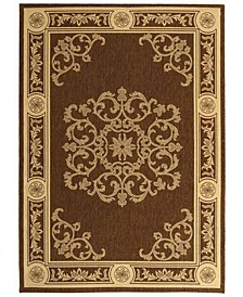 Courtyard Chocolate and Natural 8' x 11' Area Rug