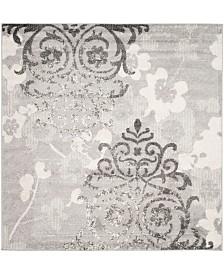 Safavieh Adirondack Silver and Ivory 6' x 6' Square Area Rug