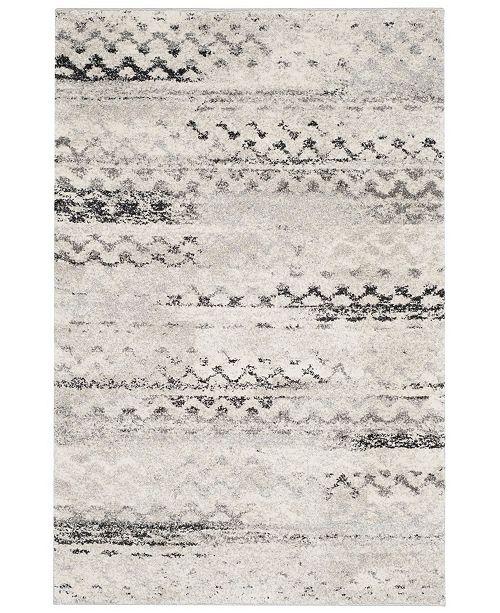 Safavieh Retro Cream and Gray 5' x 8' Area Rug