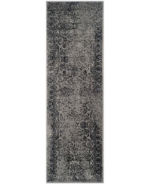 "Safavieh Adirondack Gray and Black 2'6"" x 22' Area Rug"
