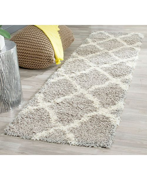 """Safavieh Dallas Grey and Ivory 2'3"""" x 6' Runner Area Rug"""