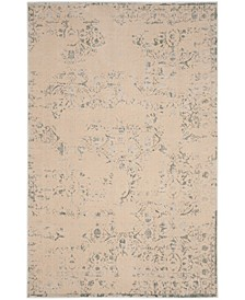 "Brilliance Cream and Light Blue 6'7"" x 9'2"" Area Rug"