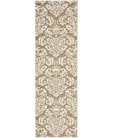 "Shag Beige and Cream 2'3"" x 8' Runner Area Rug"
