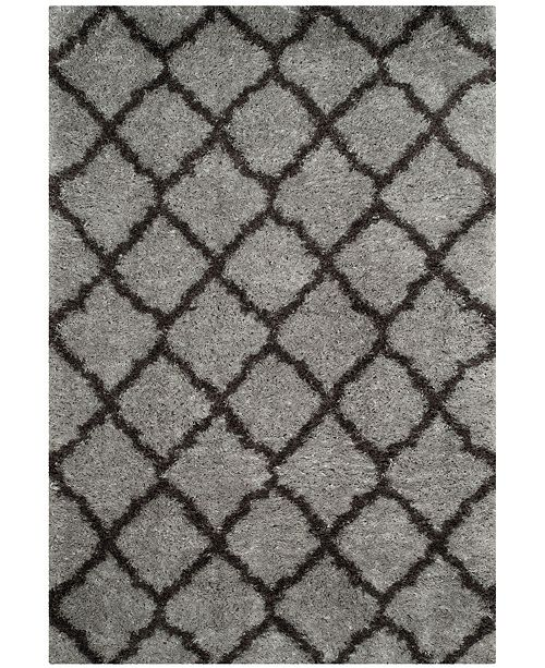 Safavieh Indie Gray and Dark Gray 4' x 6' Area Rug