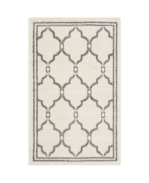 Safavieh Amherst Ivory and Gray 5' x 5' Round Area Rug
