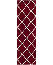 """Safavieh Hudson Red and Ivory 2'3"""" x 8' Runner Area Rug"""