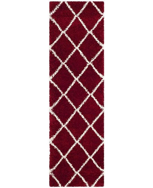 "Safavieh Hudson Red and Ivory 2'3"" x 8' Runner Area Rug"