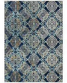 "Safavieh Evoke Royal and Light Blue 5'1"" x 7'6"" Area Rug"