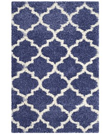 Montreal Periwinkle and Ivory 4' x 6' Area Rug